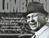 Vince Lombardi Successful Person Quote Sports Tin Sign
