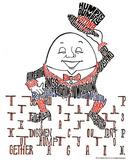 Humpty Dumpty Text Art Print Poster Pôsters