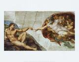 The Creation Of Adam Posters af Michelangelo Buonarroti,