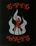 Santana (Evil Ways Lyrics) Music Poster Print Stampe