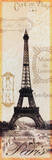 Paris Eiffel Tower Stamps Poster