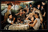 George Bungarda Lunch on the Party Boat Art Print Poster Posters