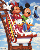 Mickey Mouse and Friends Rollercoaster Affiches