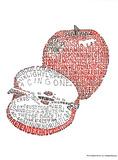 Apple Pie Recipe Text Art Print Poster Poster