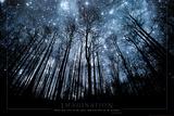 Vorstellungskraft: mit dem Kopf bei den Sternen und den Füßen auf dem Boden, Englisch Poster