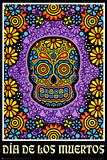 Dia de los Muertos Day of the Dead Art Poster Print Print