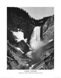 Ansel Adams Yellowstone Falls Park Art Print POSTER Photographie