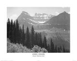 Ansel Adams Glacier National Park Art Print Poster Plakater