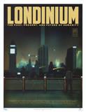 Serenity Movie Blue Sun Londinium Travel Poster Print Poster