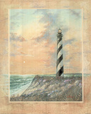 Standing Tall (Striped Lighthouse) Art Print Poster 高品質プリント