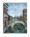 Jose Venice Canal  1 Art Print POSTER Italy gondola Foto