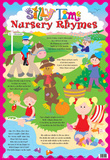 Laminated Silly Time Nursery Rhymes Educational Chart Poster Print Pôsters