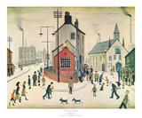 A Street in Clitheroe Posters av Laurence Stephen Lowry