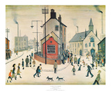 A Street in Clitheroe Affischer av Laurence Stephen Lowry