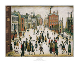 Village Square Poster by Laurence Stephen Lowry