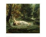 Death of Ophelia, 1859 Reproduction procédé giclée par Eugene Delacroix