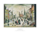 Lancashire Village Plakat av Laurence Stephen Lowry