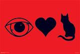 Eye Heart Kitty Posters
