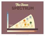 The Cheese Spectrum Poster von Stephen Wildish