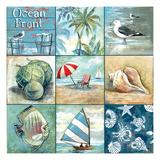 Ocean Front - Nine Square Premium Giclée-tryk af Gregory Gorham