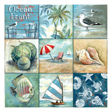 Ocean Front - Nine Square Premium Giclee Print by Gregory Gorham