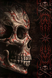 Spiral (Skull Tattoo) Art Print Poster 高品質プリント
