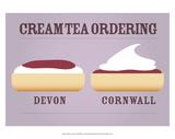 Cream Tea Ordering - Devon and Cornwall Posters par Stephen Wildish