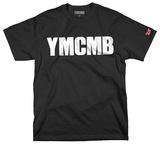 YMCMB - White Print on Black (Slim Fit) Camiseta