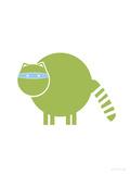 Green Raccoon Affiches par  Avalisa