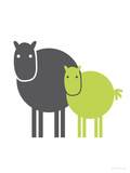 Lime Baby Horse Poster par  Avalisa