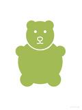 Green Bear Affiche par  Avalisa