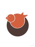 Orange Bird Nest Poster par  Avalisa