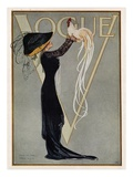 Vogue Cover - July 1910 Giclée-tryk