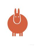 Orange Donkey Print by  Avalisa