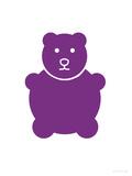 Purple Bear Posters par  Avalisa