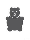 Charcoal Bear Affiches par  Avalisa
