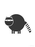 Black Raccoon Art par  Avalisa