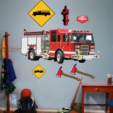 Camion de pompiers Autocollant mural