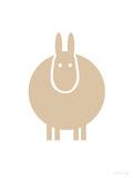Tan Donkey Posters par  Avalisa