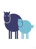Blue Baby Horse Affiches par  Avalisa