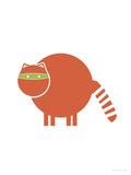 Orange Raccoon Affiches par  Avalisa