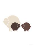 Brown Baby Sheep Posters par  Avalisa