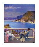 On the Riviera Exklusivt gicléetryck av Sir John Lavery