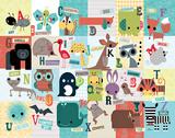 Animal ABC Prints by Jillian Phillips