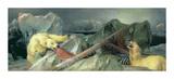 Man Proposes, God Disposes Premium Giclée-tryk af Edwin Henry Landseer