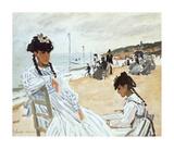 La Plage a Deauville Premium Giclee Print by Claude Monet