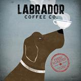 Labrador Coffee Co., Englisch Poster von Ryan Fowler
