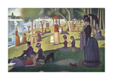 A Sunday on La Grande Jatte 1884, 1884-86 Reproduction giclée Premium par Georges Seurat