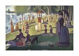 A Sunday on La Grande Jatte 1884, 1884-86 Premium Giclee-trykk av Georges Seurat