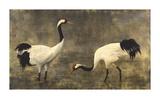 Japanese Cranes Premium Giclee Print by Helene Whitwell